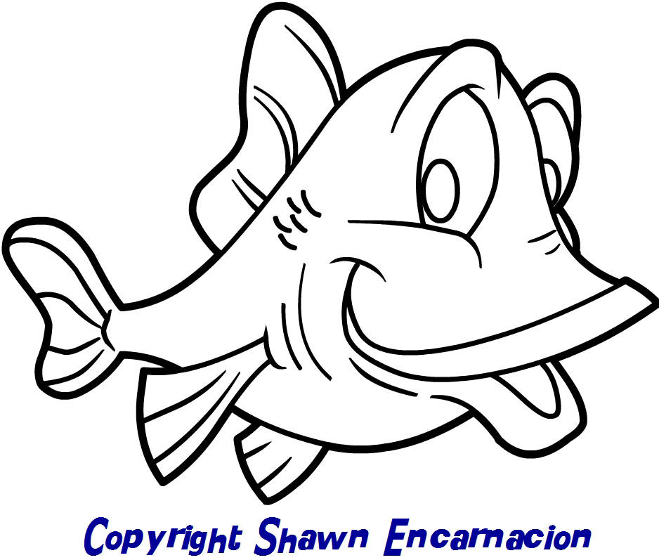 938x797 cartoon drawings of fish