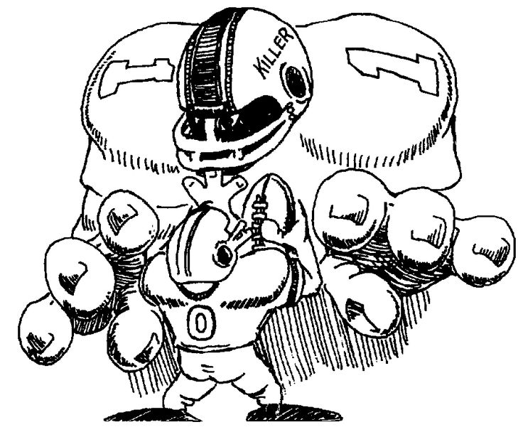 Cartoon Drawing Of Football Players