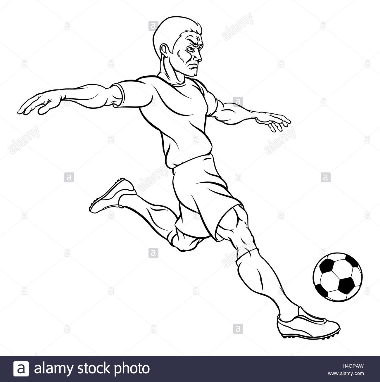 1300x1307 A Soccer World Football Player Cartoon Character Kicking The Ball