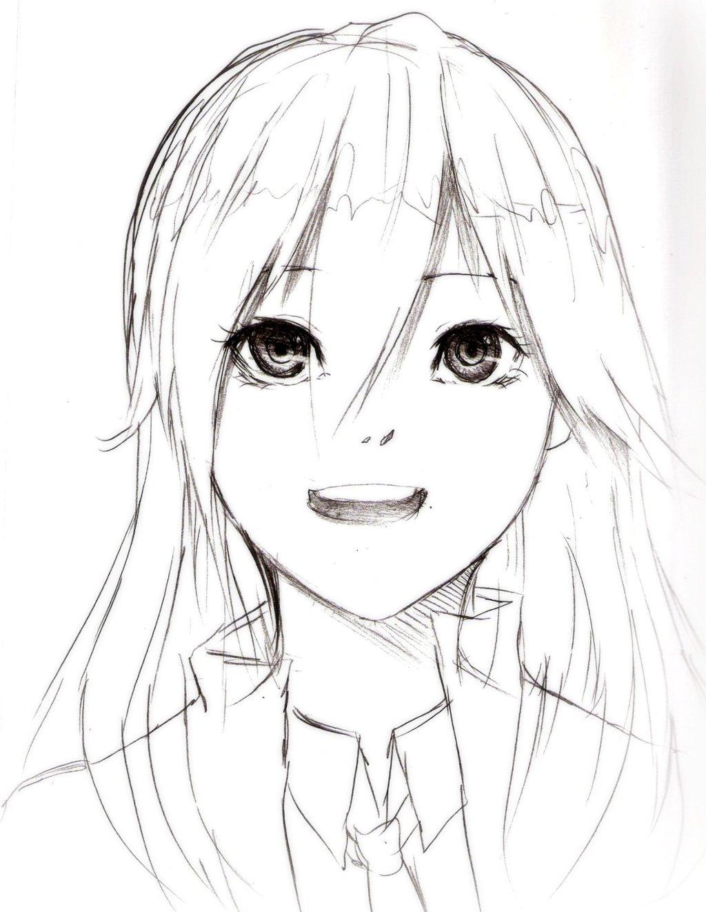 1024x1322 Sketch Of Beautiful Cartoon Girls Beautiful Anime Girl Face