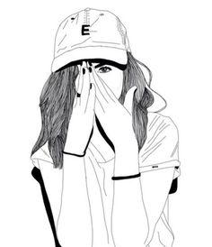 236x274 Outline Tumblr Girls Black And White
