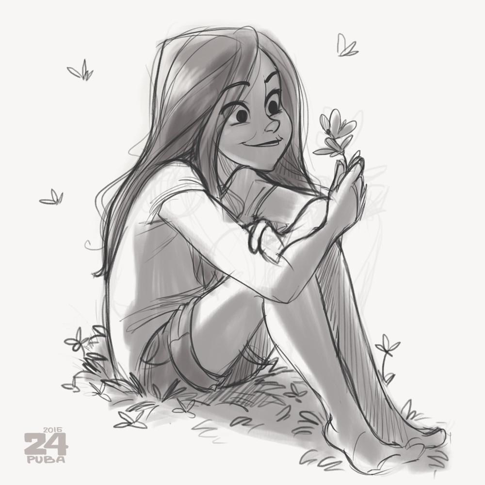 1000x1000 Cartoon Drawings Of Girls Challenge Girls, Puba 24 On Artstation