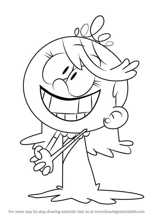 596x843 Step By Step How To Draw Lola Loud From The Loud House