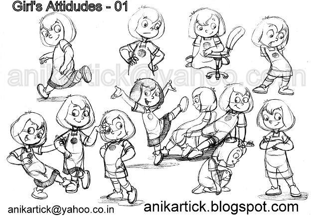 624x435 Chennai Animation Artist Anikartick Sketches Character Designs