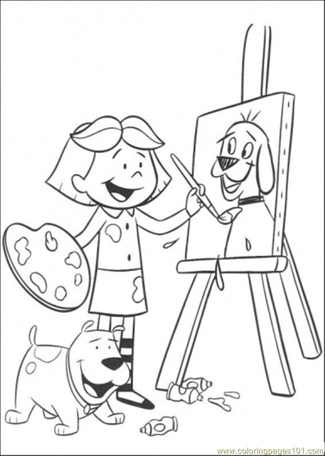 650x912 Painting Cartoons Coloring Page Clifford