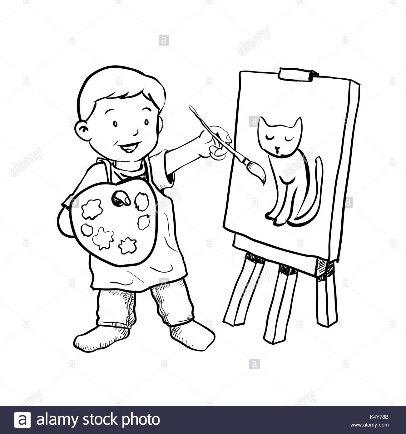 1300x1390 Cartoon Drawing Class Stock Photos Amp Cartoon Drawing Class Stock