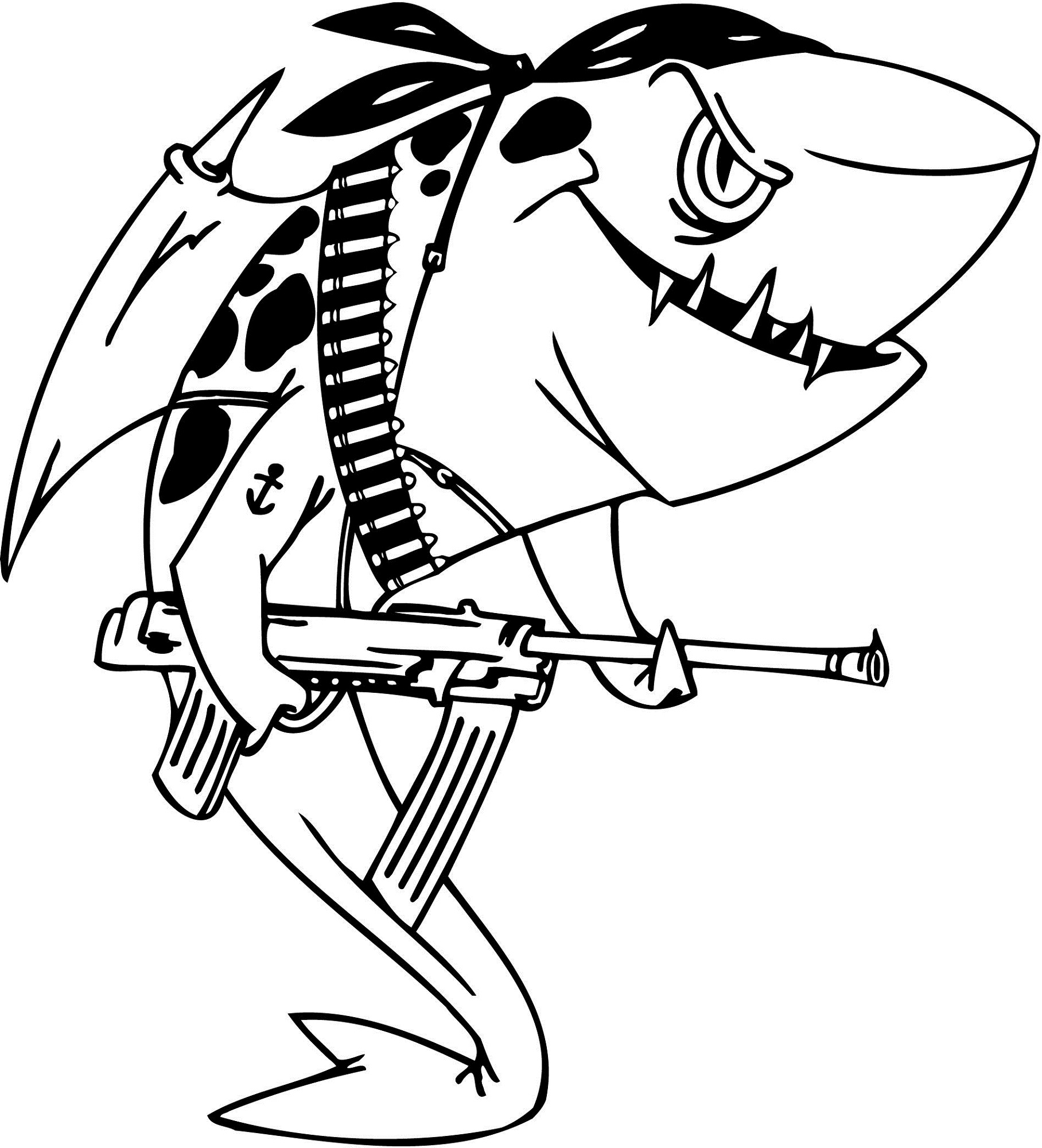 1816x2000 Coloring Pages Breathtaking Shark 18