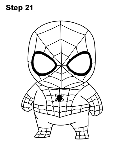 386x500 how to draw spider man mini