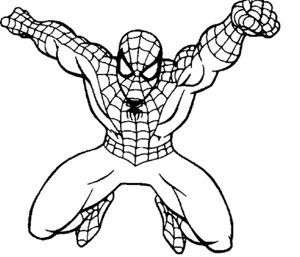 1052x900 Ultimate Spiderman Coloring Pages Seat Actions Free Printable