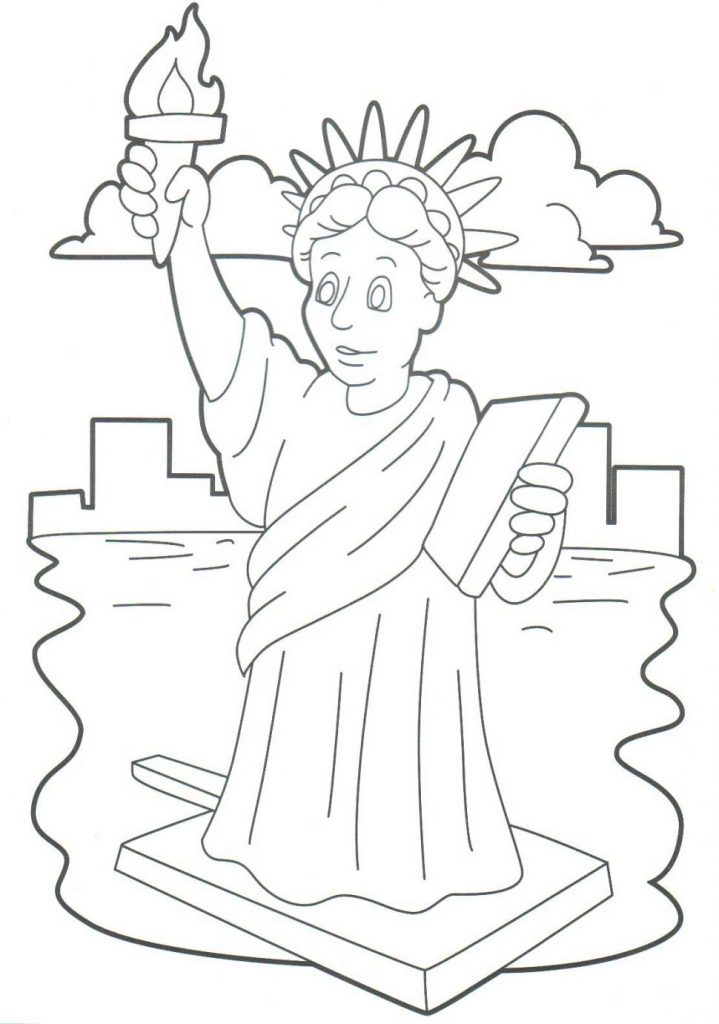 719x1024 Sport Statue Of Liberty Coloring Pages For Download And Print Free