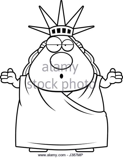 423x540 Statue Liberty Cartoon Black And White Stock Photos Amp Images