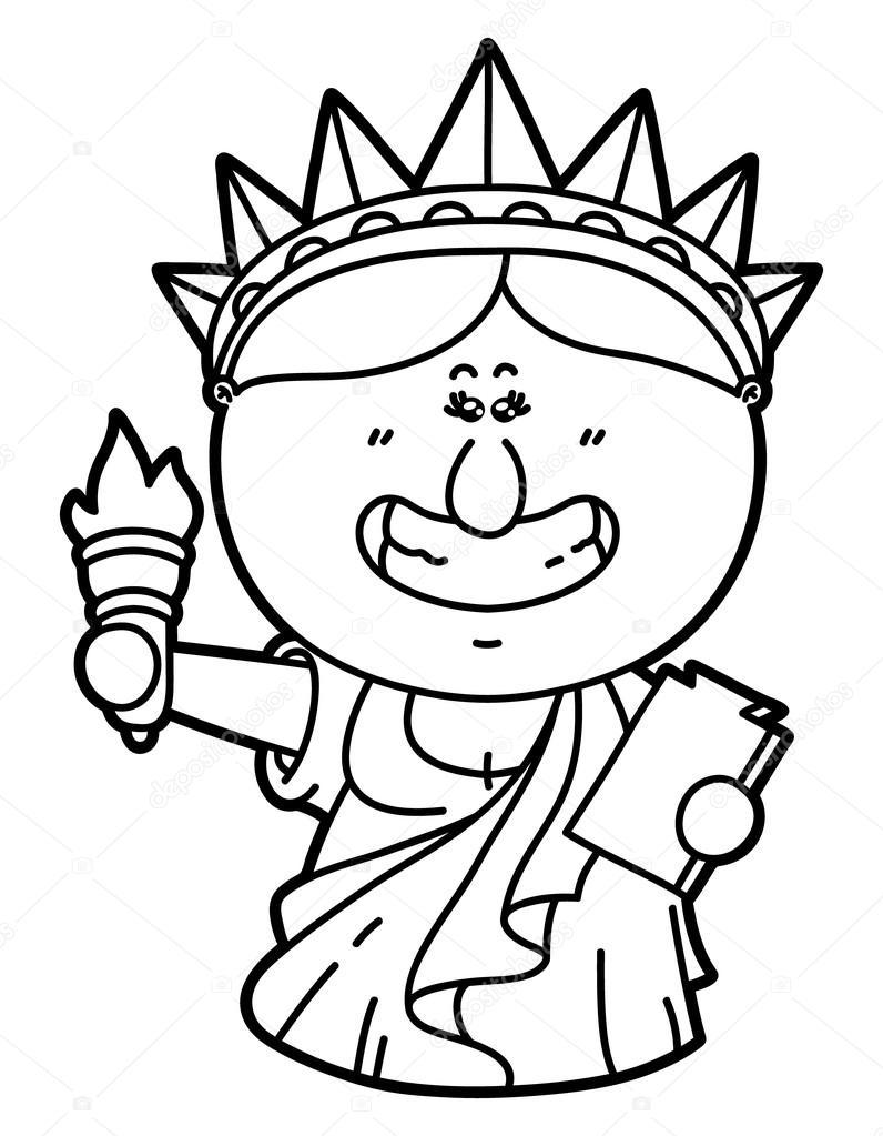 796x1023 Funny Statue Of Liberty. Stock Vector Boyusya