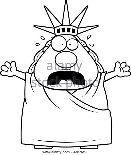 458x540 Cartoon Illustration Statue Liberty Looking Stock Photos Amp Cartoon