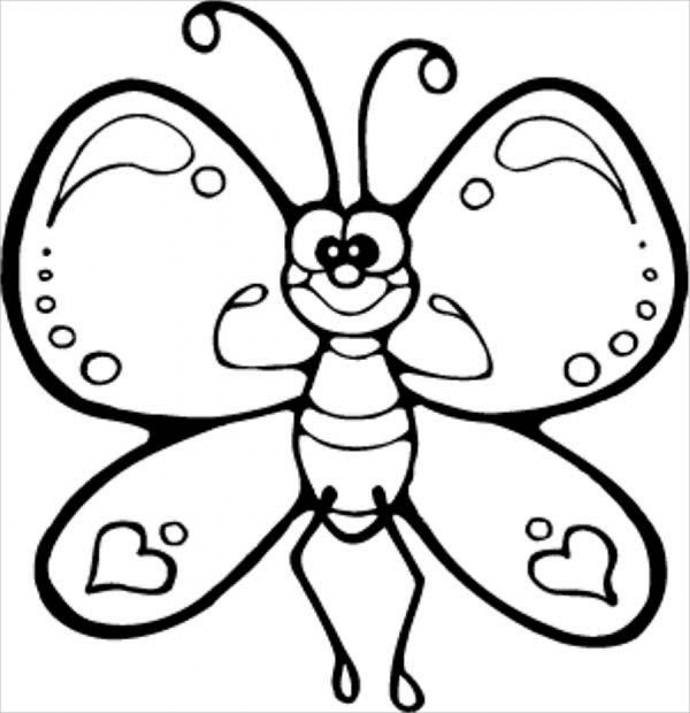 991x1024 Butterfly Coloring Pages Free Amp Premium Templates Regarding