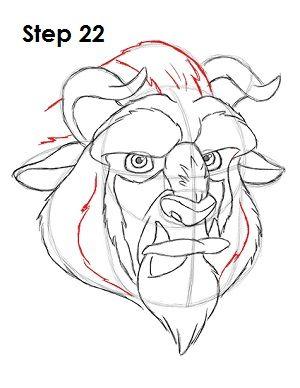 300x388 Draw Beauty's Beast 22 Tekenen Beast, Cartoon