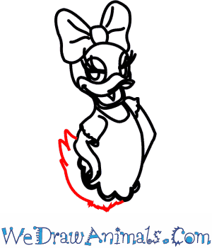 300x350 How To Draw Daisy Duck From Disney