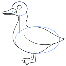 225x223 Cartoon Ducks Step By Step Drawing Lesson