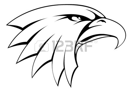450x316 Cartoon Bald American Eagle Mascot Swooping With Claws Out