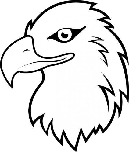 423x500 Eagle Head Clipart Black And White