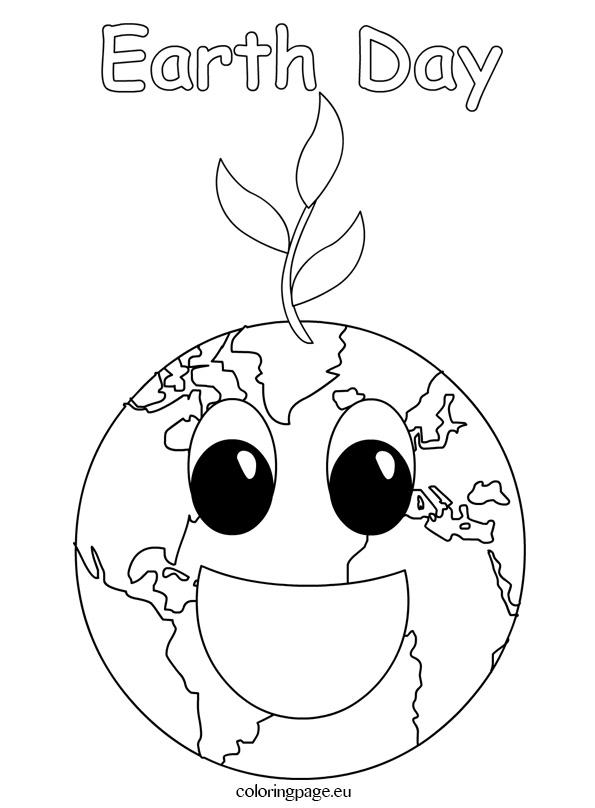 595x808 Earth Day Smiling Coloring Page