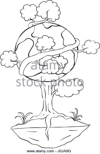 349x540 Planet Earth Tree Cartoon Stock Photos Amp Planet Earth Tree Cartoon