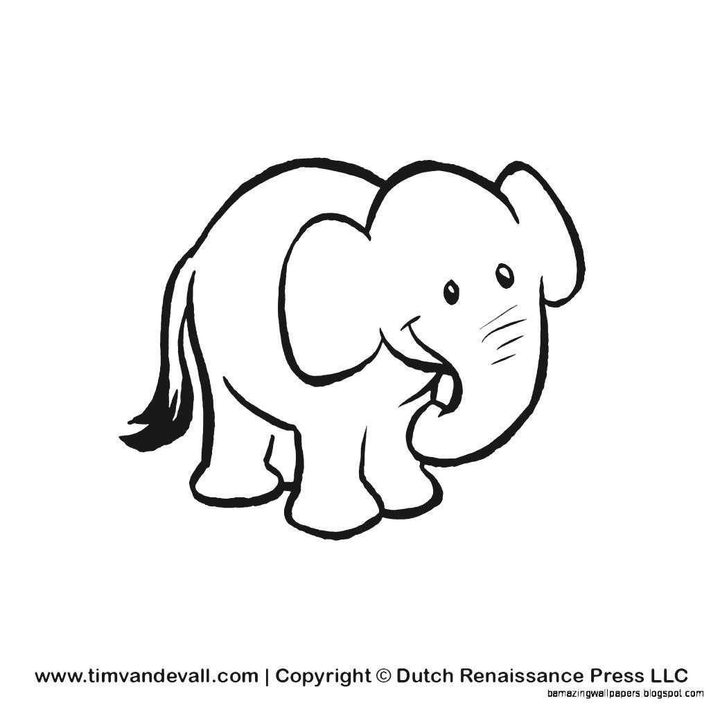 Cartoon Elephants Drawing at GetDrawings | Free download