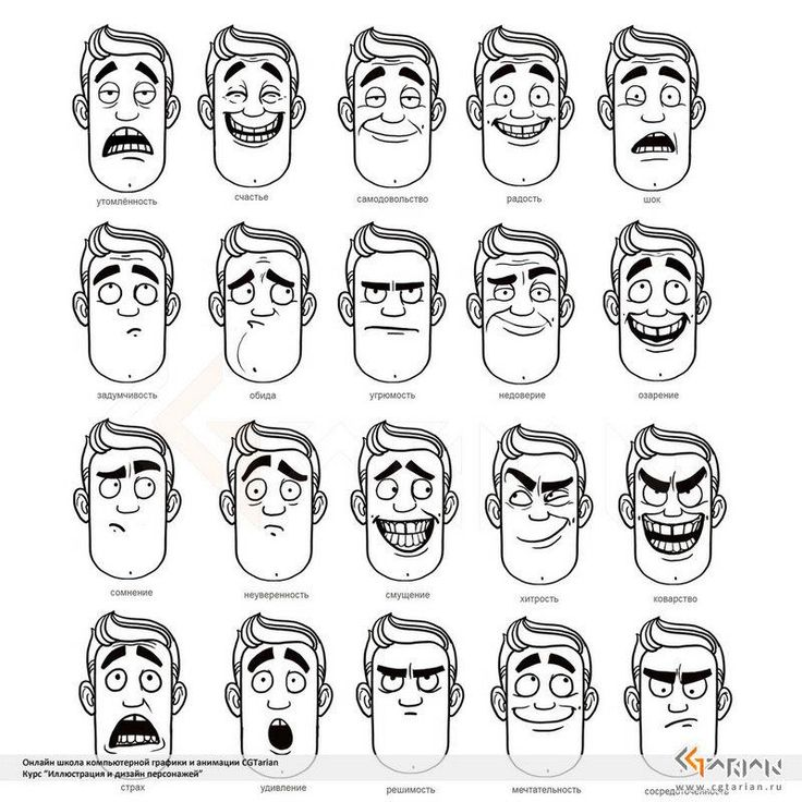 Line Drawings Of Facial Expressions : Cartoon expressions drawing at getdrawings free for