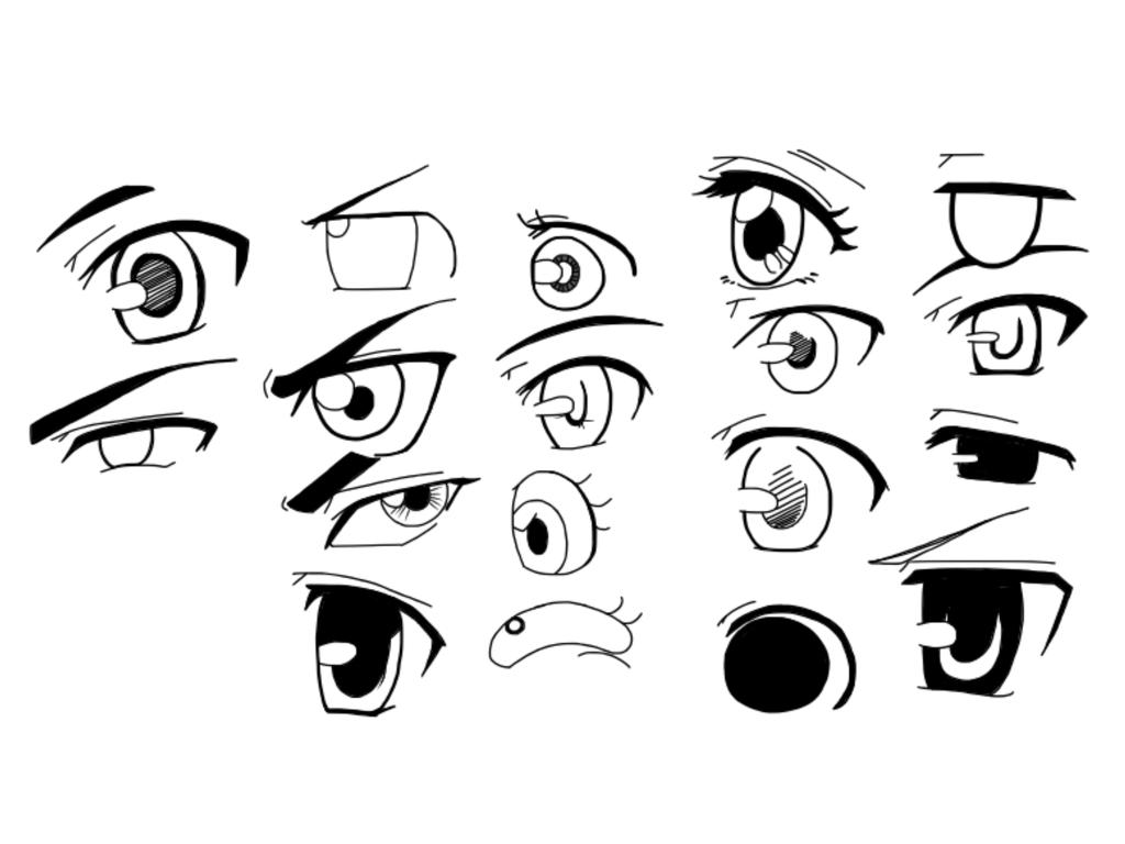 Cartoon Eyes Drawing