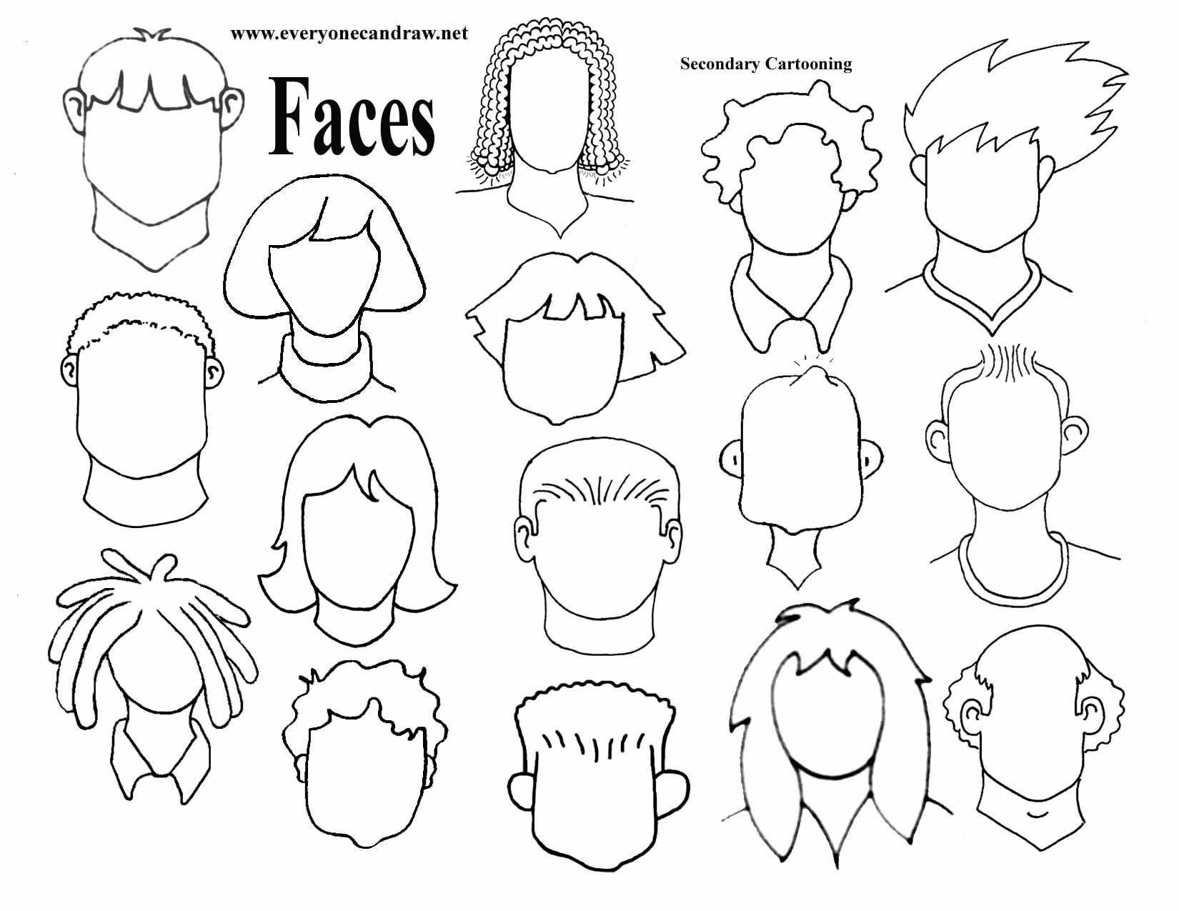 1650x1275 Secondary Heads The Easiest Drawing Easy, Doodles