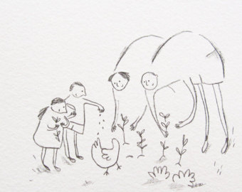 340x270 Family Drawing Etsy