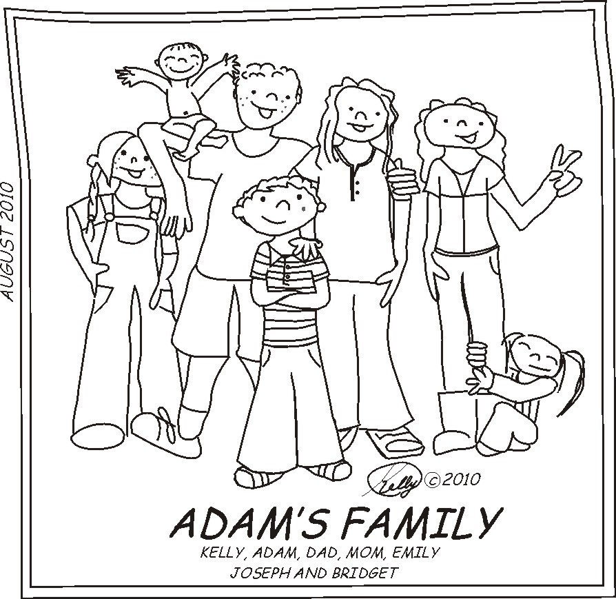 894x869 Our Family In Cartoon