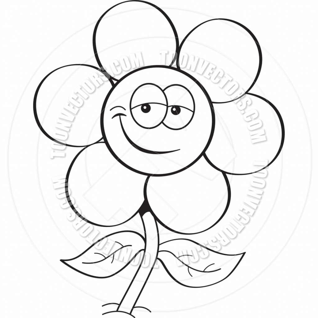 Flowers Cartoon Images Black And White Flowers Healthy