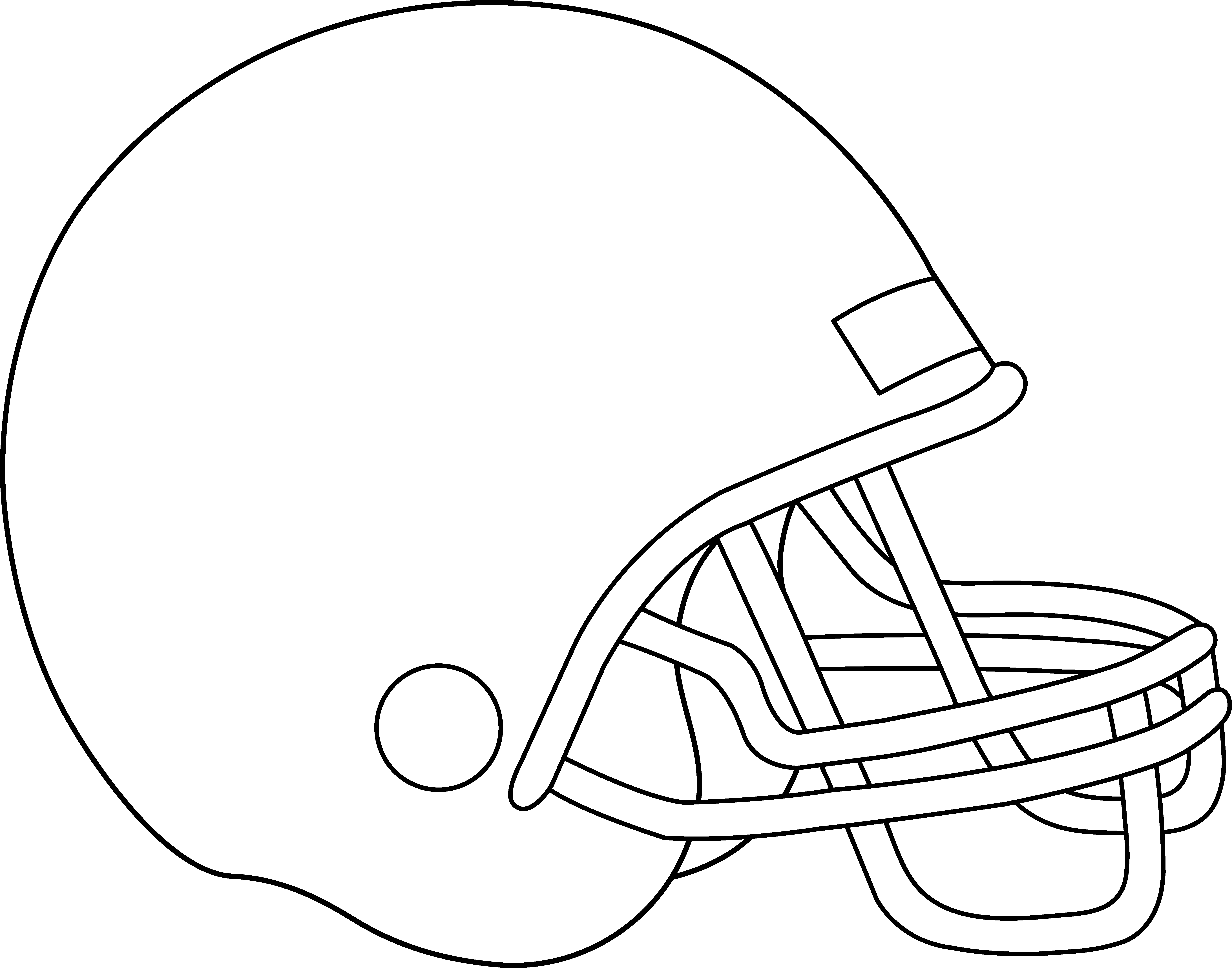 6835x5374 Blank Football Helmet For Coloring