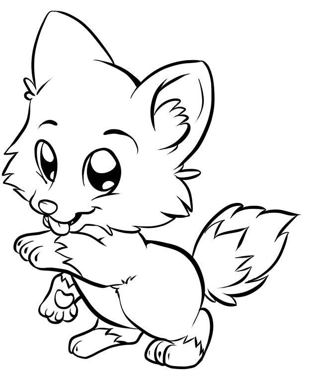 Cartoon Fox Drawing at GetDrawings.com | Free for personal use ...