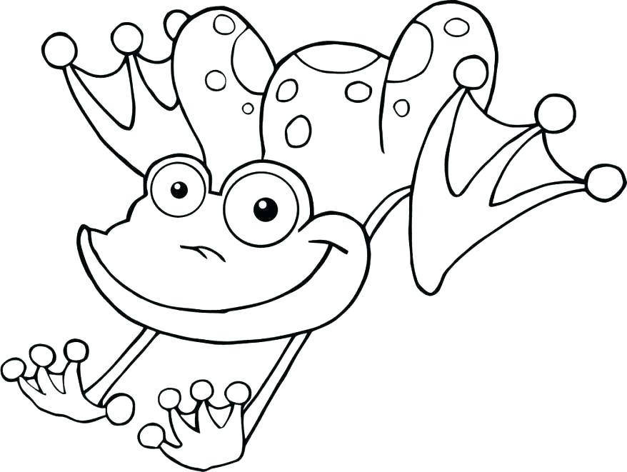 878x661 Free Frog Coloring Pages Lily Pad Coloring Sheet Cartoon Frog