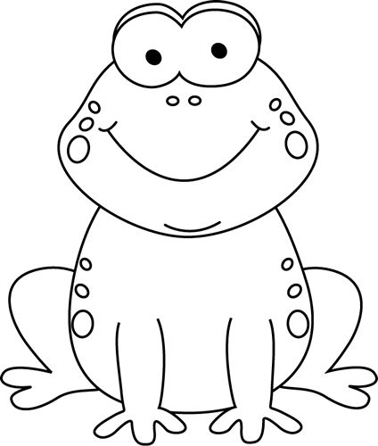 424x500 Frog Clipart Black And White Frog Black And White Black And White