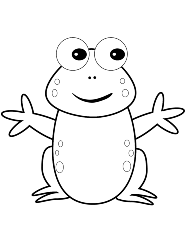 371x480 Happy Cartoon Frog Coloring Page Free Printable Coloring Pages