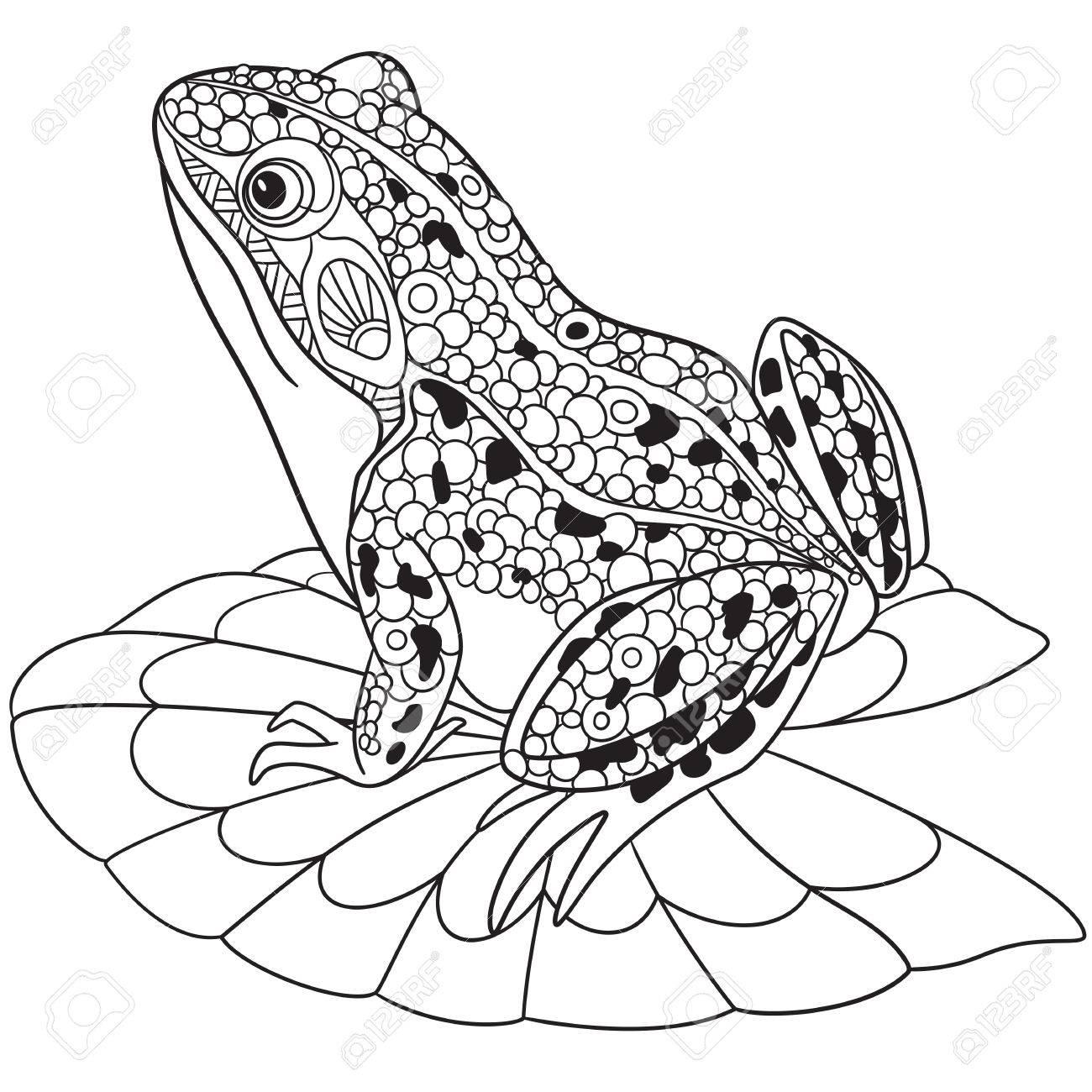 1300x1300 Stylized Cartoon Frog, Clip Art Libres De Droits , Vecteurs Et