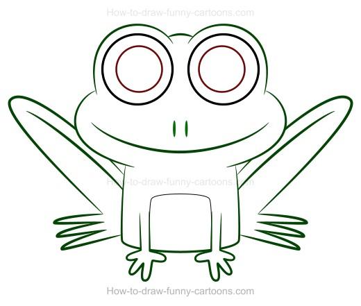 520x441 To Draw A Cartoon Frog