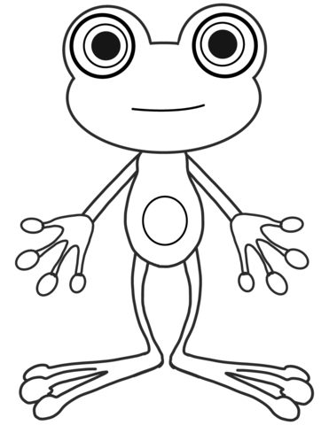 371x480 Cartoon Frog Coloring Page Free Printable Coloring Pages