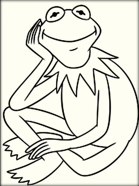 453x604 Cartoon Frog Coloring Pages