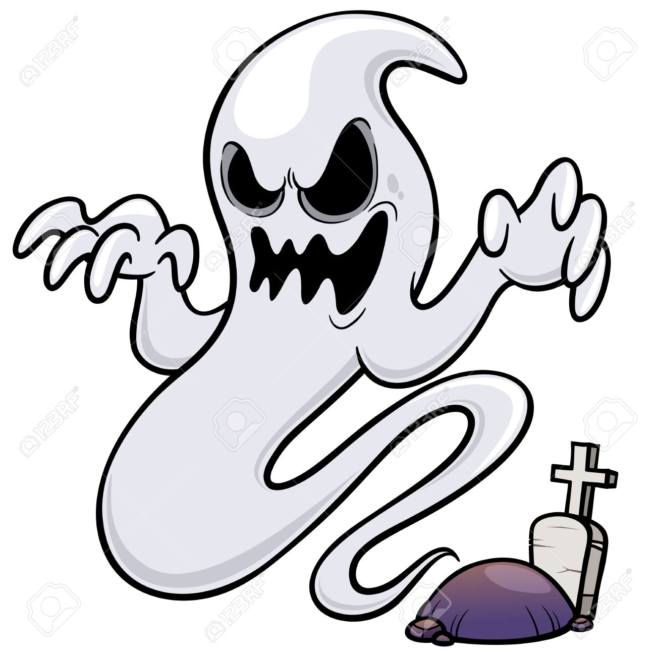 1300x1300 Vector Illustration Of Ghost Cartoon Royalty Free Cliparts