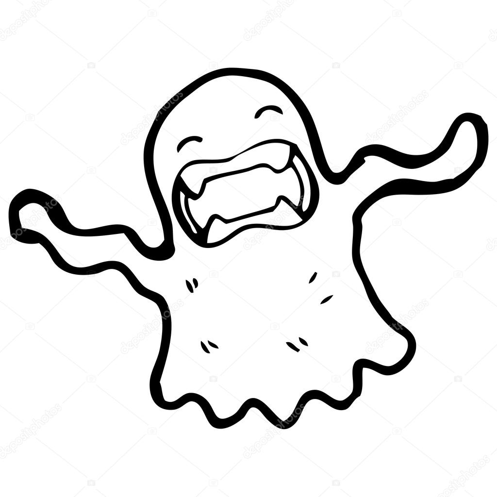 1024x1024 Ghost Drawing Stock Vector Lineartestpilot