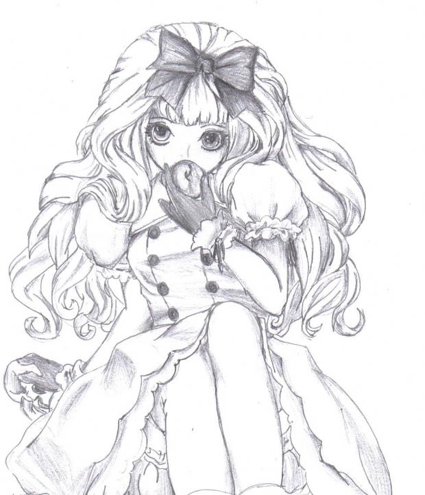 620x722 Anime Girl By Mustachefartlol