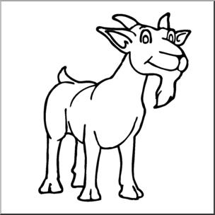 304x304 Clip Art Cartoon Goat Billy Goat Bampw I Abcteach