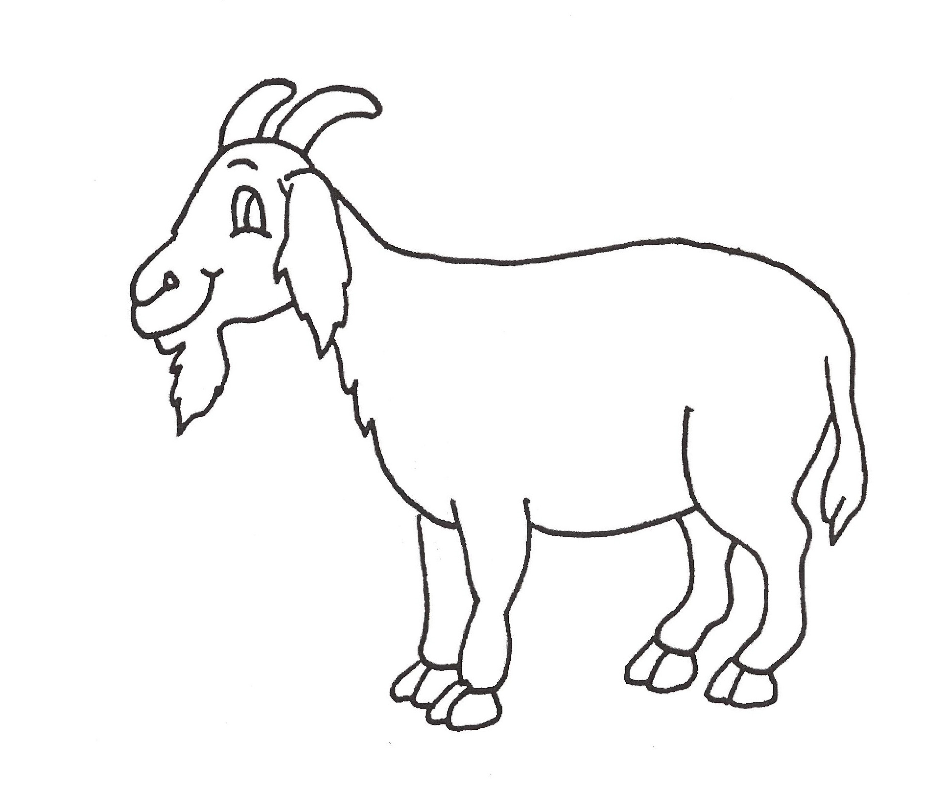 1932x1608 Drawing Of A Goat Goat Cartoon