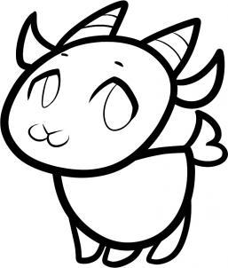 257x302 Drawn Goat