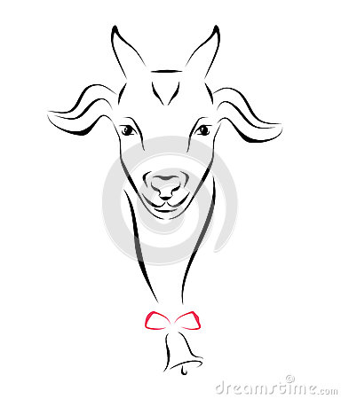384x450 Drawn Goat Cute
