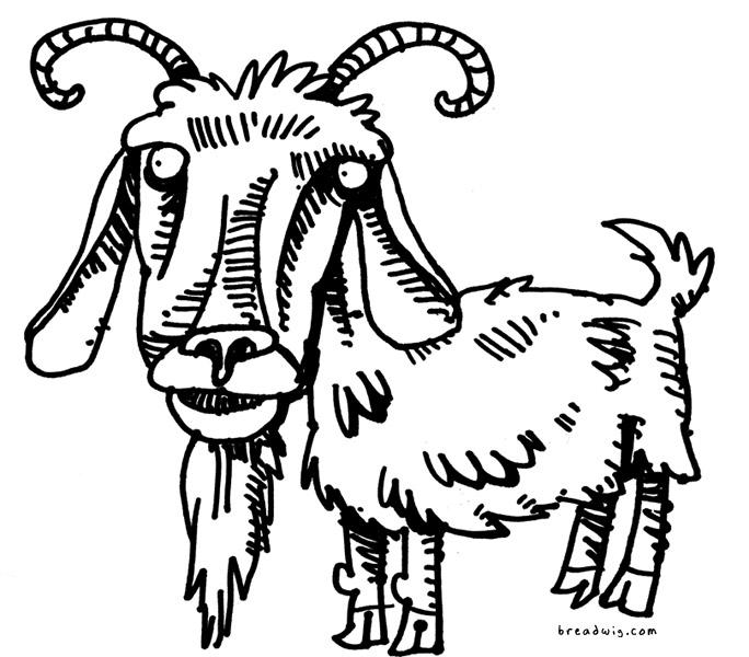 684x600 Funny Goat Cartoon Funny Animal