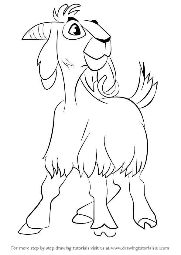 596x842 Learn How To Draw Djali The Goat From The Hunchback Of Notre Dame